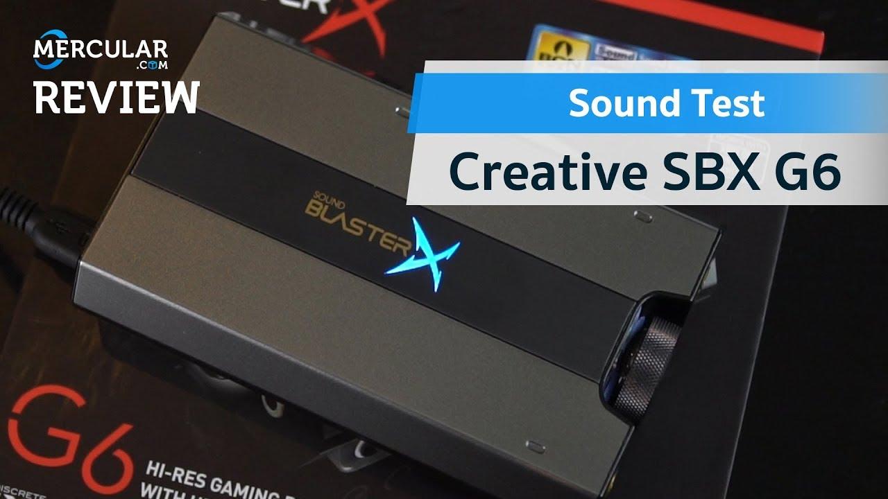 ทดสอบเสียง - Creative Sound BlasterX G6 (Sound Test)