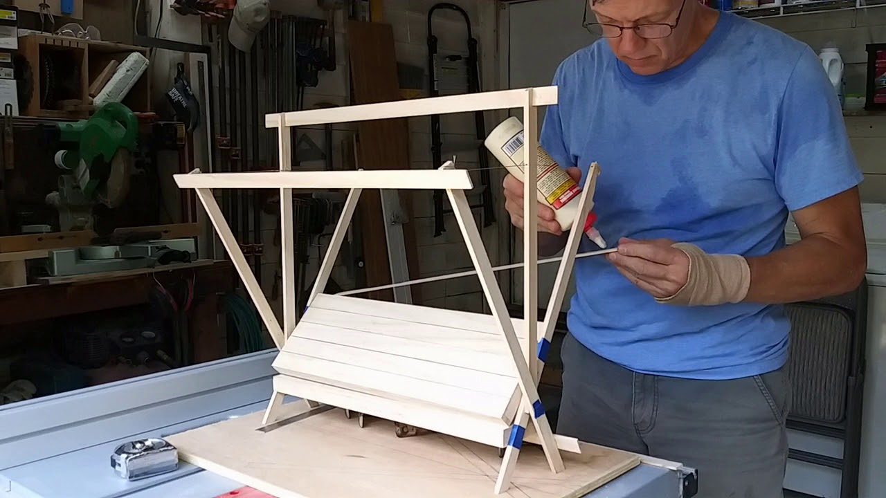 Building a model before starting a full size furniture build