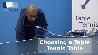 Choosing a Table Tennis Table | PingSkills