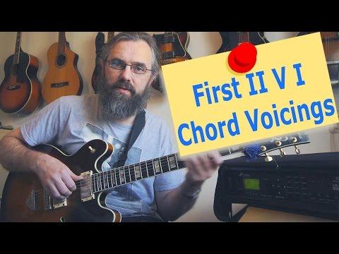 First II V I chord voicings