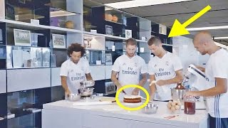 Cristiano Ronaldo and Sergio Ramos make a cake with Marcelo and Pepe for the members of Real Madrid