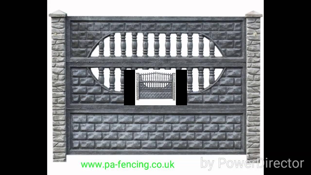 Concrete Fences Designs Pa fencing decorative concrete fence designs youtube workwithnaturefo