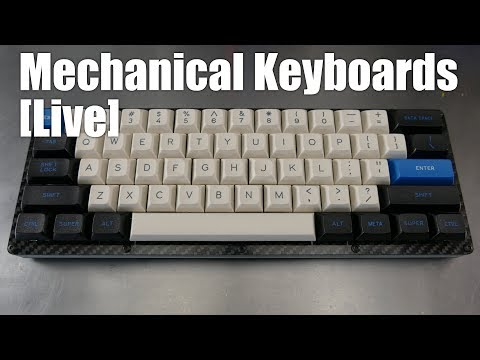 MeMechanical Keyboards Live! - LJD61up skeleton 60% carbon fiber build from 1upkeyboards
