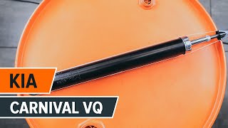Montaje Amortiguadores traseros KIA CARNIVAL / GRAND CARNIVAL III (VQ): vídeo gratis