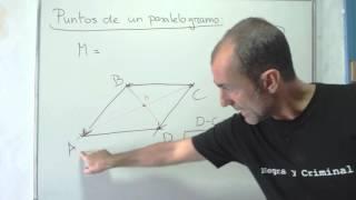 5  Punto medio y cuarto vértice de un paralelogramo