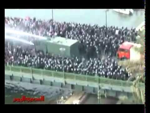Egypt Revolution 28 January 2011  Demonstrators Vs police Fighting
