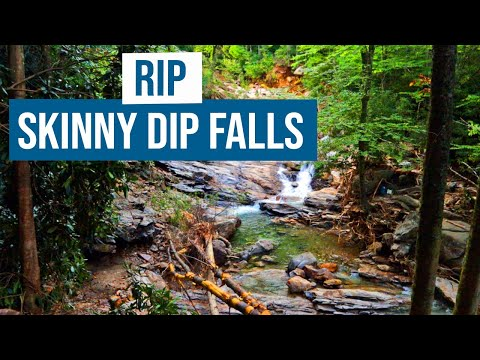 RIP Skinny Dip Falls - Footage from after the flooding