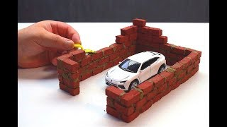 How to build a Brick wall bricklaying How to build a MINI GARAGE