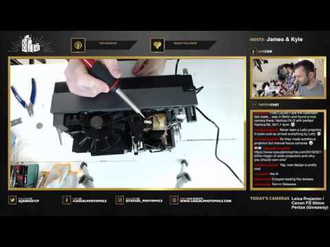 We Repair a Leica Projector and Canon 50mm FD Lens - Casual Photophile Live Stream VOD EPISODE 003