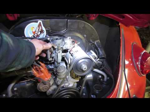 1967 vw engine install and cold start