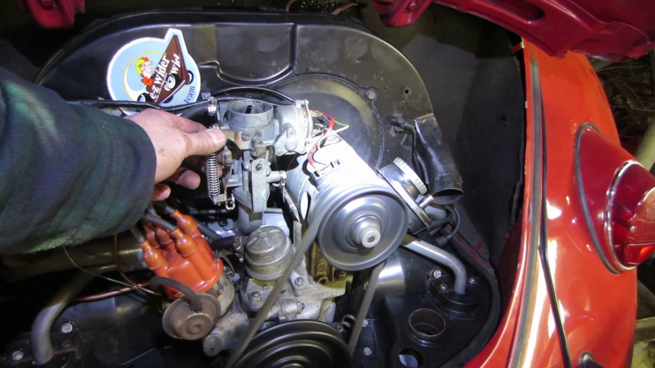 hight resolution of 1967 vw engine install and cold start