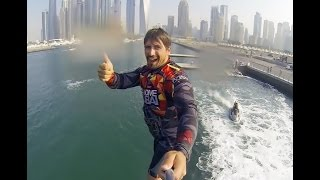Flyboard session at Sky dive Dubai