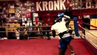 Russian super middleweight Vladimir Shishkin sparring in Kronk Gym