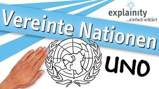 Vereinte Nationen (UNO) einfach erklärt (explainity® Erklärvideo)