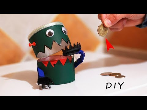 DIY Robot Bank -  How to Make a Fun Robot Eats Coins