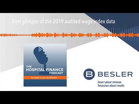 First glimpse of the 2019 audited wage index data