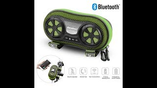 Excelvan Wireless Bluetooth Speaker Bicycle Speaker Case with Rechargeable 4400 mAh Power Bank