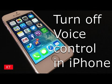 How to turn off voice control in iPhone 5/5s/6/6s/7/7s