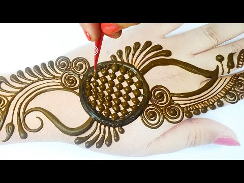 Stylish Full Hand Kairi Shape Mehndi Design 2020 -C अक्षर से मेहँदी बनाना सीखे -New Wedding Mehandi