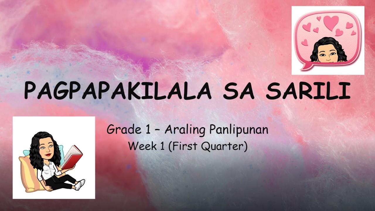 PAGPAPAKILALA NG SARILI (Grade 1- Araling Panlipunan 1ST QUARTER WEEK 1) -  YouTube [ 720 x 1280 Pixel ]