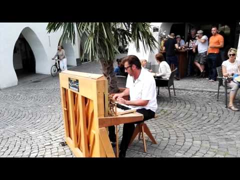Super Speed Street Boogie by Nico Brina (2015) - it's a one man piano show (highspeed boogie)