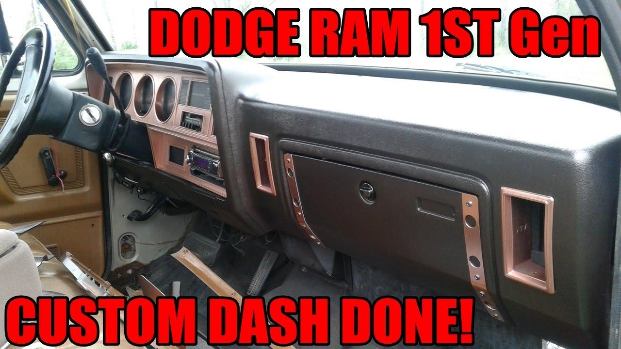 small resolution of 1st gen dodge ram custom dash finished ep 5