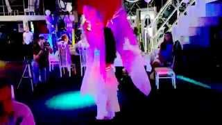 Светодиодные веера+барабаны, фрагмент танца