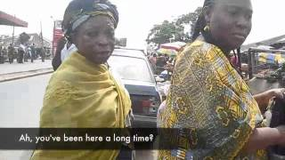 Titilayo Oyinbo at an Ibadan Market