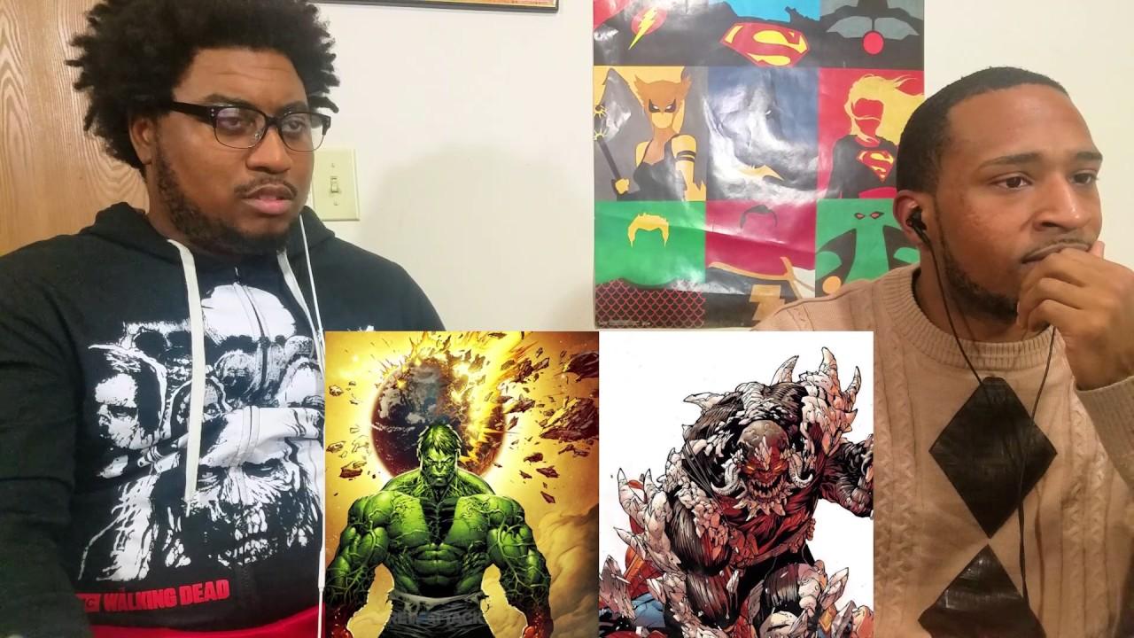 Hulk VS Doomsday - DEATH BATTLE! REACTION - Otakus React ... Doomsday Vs Hulk Death Battle Reaction