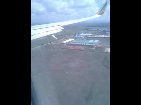 Enjoying the plane landing(Ethiopia to Kenya)