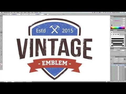 Logo Maker   Retro Emblem Generator ~ Web Elements on Creative Market