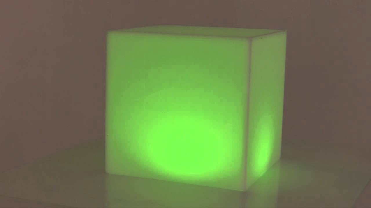Acrylic RGB DMX controlled Light box cube