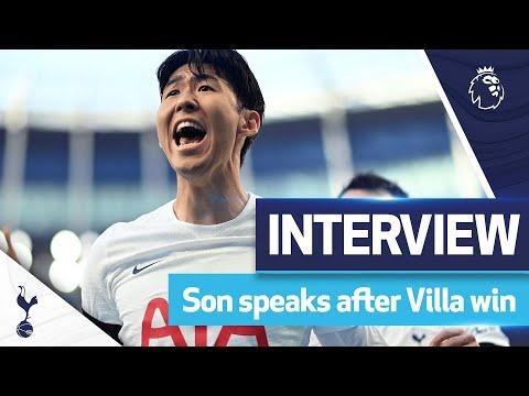 Heung-Min Son speaks after AMAZING performance against Aston Villa |  Spurs 2-1 Aston Villa