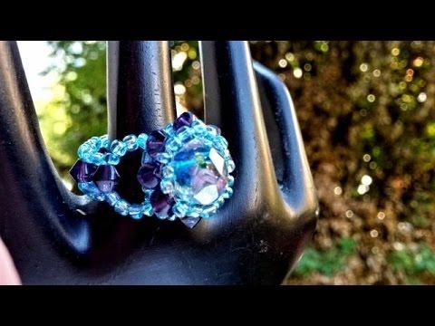 Ring made with beads - tutorial handmade jewellery