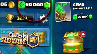 GET THOUSANDS of GEMS for FREE!! EASIEST WAY to OBTAIN LEGENDARY CARDS and CHESTS in Clash Royale!