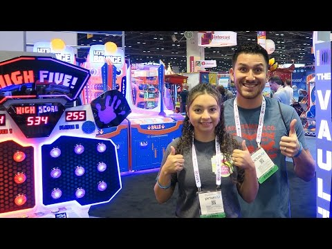 So many NEW fun arcade games at the IAAPA Expo 2016!!!