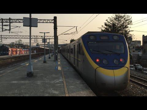 2084A次回送車停靠於后里站等待回送至新烏日站情形