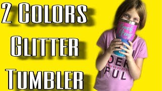 DIY Glitter Tumbler - Using 2 Colors - Epoxy & ModPodge Method