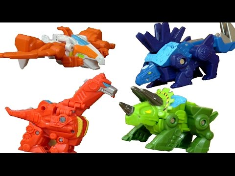 Full Set Dinobots Trasformers Rescue Bots - Unbox/Review - Blades, Boulder, Heatwave and Chase