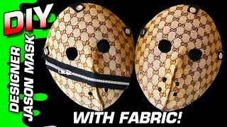 how to custom gucci jason mask using designer fabric no sewing needed