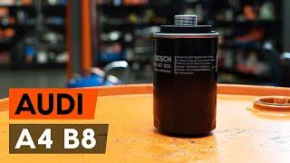 Kuinka vaihtaa Öljynsuodatin AUDI A4 (8K2, B8) - ilmaiseksi video verkossa