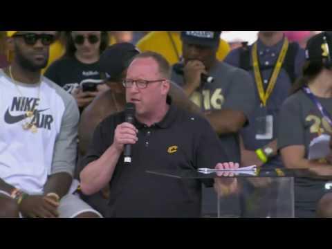 David Griffin Speech  Cleveland Cavaliers Championship Parade  June 22, 2016  NBA Finals