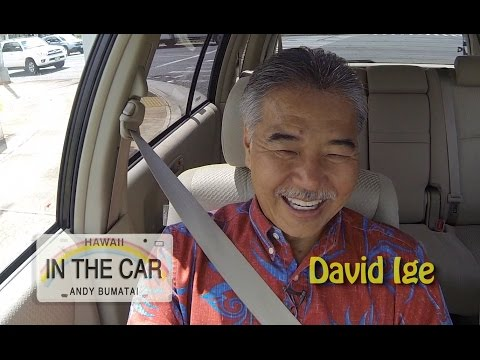 David Ige - In The Car - Interview