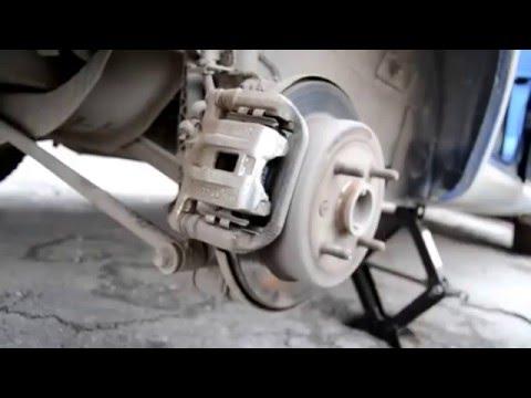 Замена задних колодок на дисковых тормозах Chevrolet lacetti