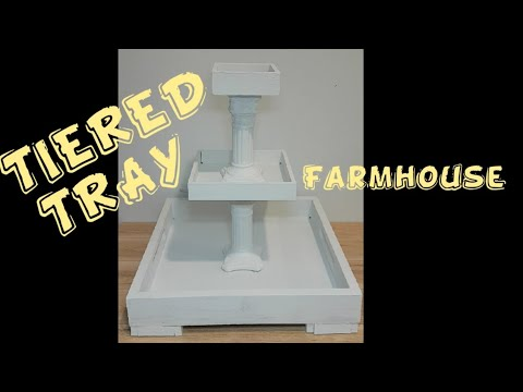 DIY 3 tiered tray|Farmhouse|Dollar store|thrift store items
