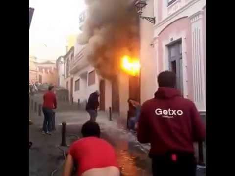 Incendio de una vivienda en Tazacorte 5-12-2016
