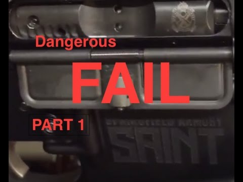 (Part 1) Caution Problems With New Springfield Armory Saint Review BIG Fail Malfunction Jam