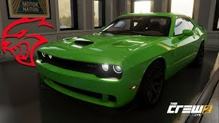 The Crew 2 - DODGE CHALLENGER HELLCAT - Customization, Top Speed Run, Review