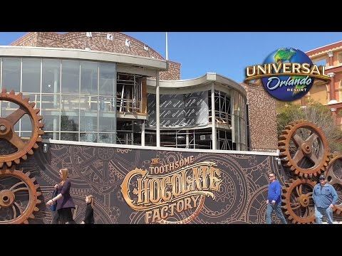 Toothsome Chocolate Factory - Construction Update, Concept Art & Food Pics - Universal CityWalk
