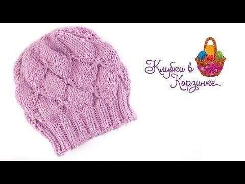 Связать спицами шапку для девочек